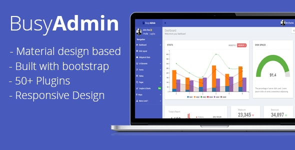 Busy Admin - Material Bootstrap Dashboard - Admin Templates Site Templates