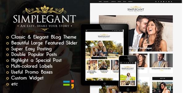 New Simplegant - A Responsive Blogger Blog Theme - Blogger Blogging