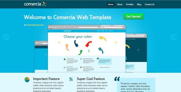 Comercia Portfolio Template - Creative Site Templates