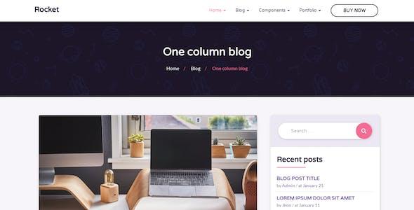 Rocket - HTML5 Template for Startup, Hosting, Mobile App, SEO, Digital Agency and more