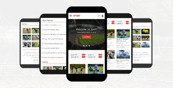 Sport – Responsive Mobile Template