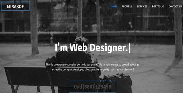 Mirakof - Personal Portfolio Template - Portfolio Creative