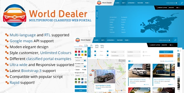 Car Dealer Classified Directory Template - Business Corporate
