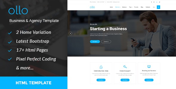 ollo Business & Agency HTML Template - Business Corporate