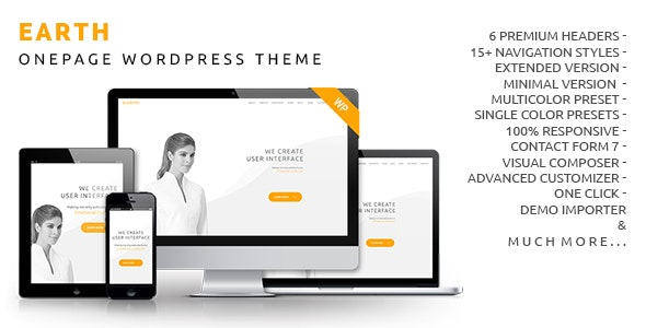 Earth - Onepage WordPress Theme - Creative WordPress
