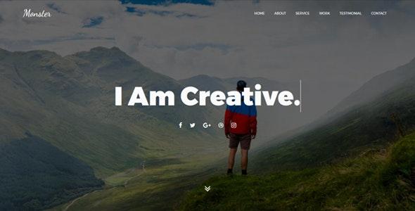 Monster - Personal Portfolio Template - Portfolio Creative