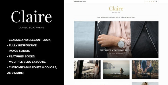 Claire - Classic WordPress Blog Theme - Personal Blog / Magazine