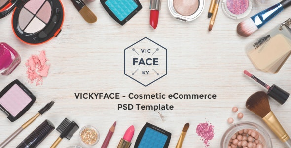 VickyFace - Ecommerce PSD Template - Retail Photoshop