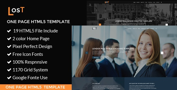 lost | Corporate / Business  HTML5 Template - Corporate Site Templates