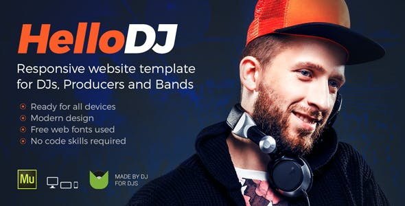 HelloDJ - DJ / Producer / Music Band Responsive Muse Template