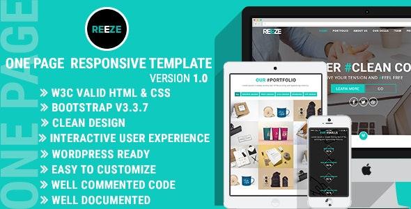 Rezee - One Page Responsive Template - Portfolio Creative