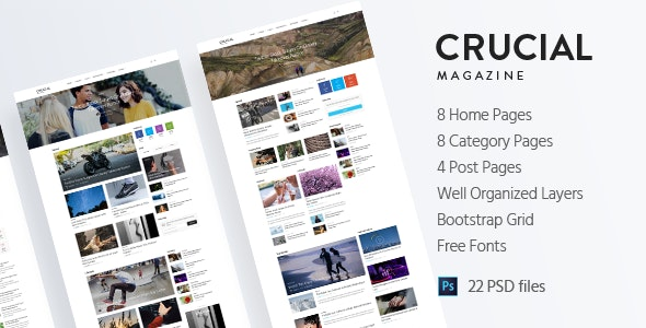 Crucial - Magazine Bootstrap 3 Responsive HTML Template - Miscellaneous Site Templates