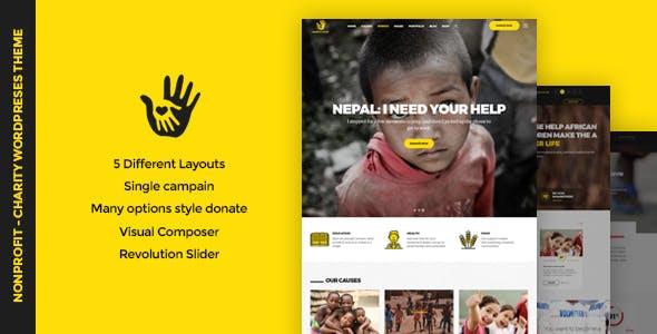 CharityHeart - Charity Responsive WordPress Theme