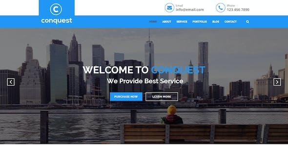 CONQUEST - Multipurpose Business Website Template PSD