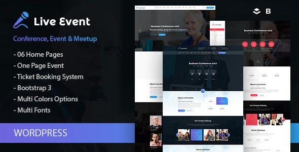 Live Event - Single Conference, Event, Meetup WordPress Theme