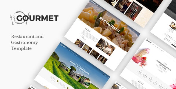 Gourmet - Restaurant And Food Template - Restaurants & Cafes Entertainment