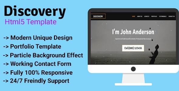 Discovery - Personal/Agency Portfolio Template - Portfolio Creative