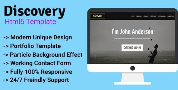 Discovery - Personal/Agency Portfolio Template