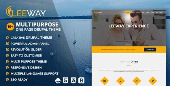 Leeway - Multipurpose One Page Drupal Theme - Creative Drupal