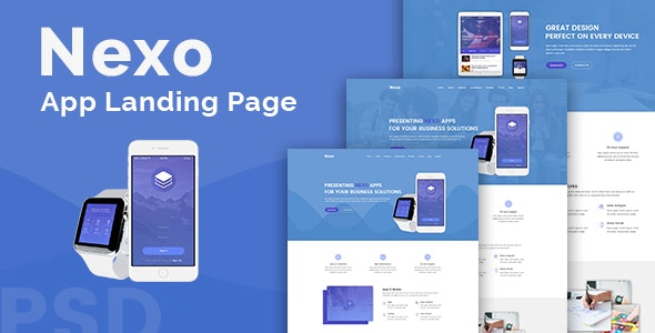 Nexo – Multipurpose Landing Page Template - Technology Site Templates