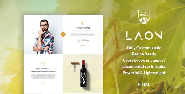 Laon | Wine House, Vineyard & Shop HTML Template - Food Retail