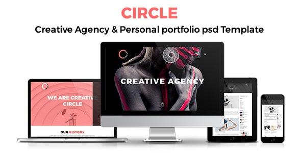 CIRCLE Creative Agency and Portfolio Template - Creative Photoshop