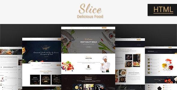 Slice Restaurant - Responsive Bootstrap Template - Food Retail