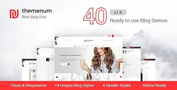 themenum - Responsive Blog HTML Template for Ads Businesses