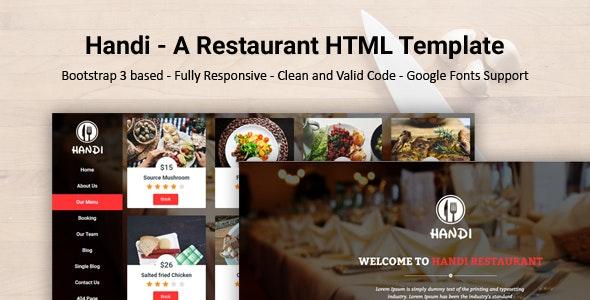 Handi - A Restaurant HTML Responsive Template - Food Retail