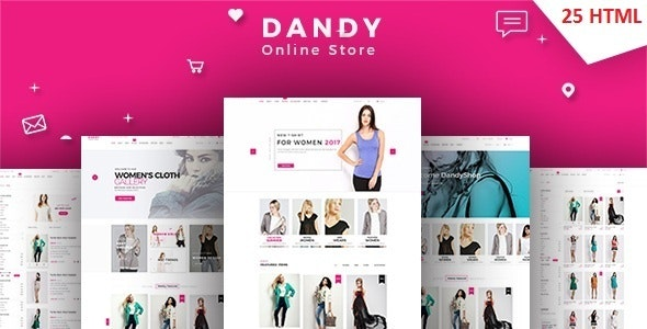 DANDY - Multi-Purpose eCommerce Shop Template - Shopping Retail