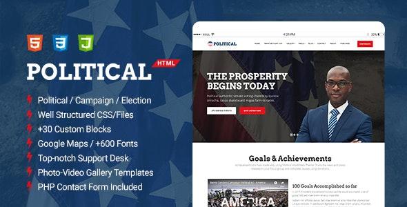 Political - Multipurpose Campaign, Election HTML Template - Political Nonprofit