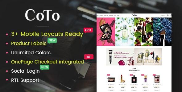 Coto – Beauty & Spa Store OpenCart 2.3 Theme - OpenCart eCommerce