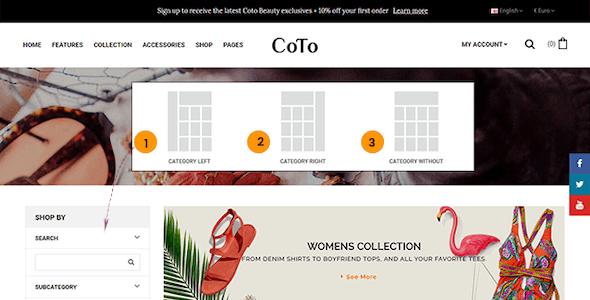 Coto – Beauty & Spa Store OpenCart 2.3 Theme