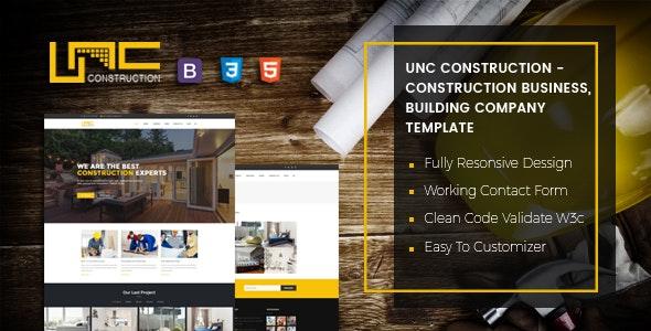 Unc Construction Business HTML Template - Business Corporate