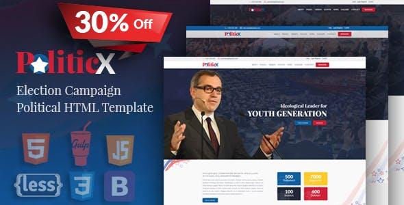 Politicx - Political, Candidate & Election Campaign HTML Template