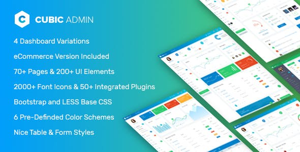 Cubic Admin - Dashboard + UI Kit Framework with Frontend Templates