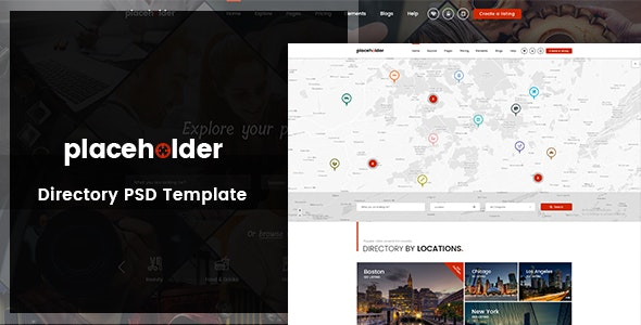 Placeholder - Directory & Listing PSD Template - Miscellaneous PSD Templates