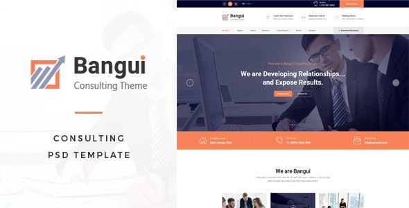 Bangui : Consulting PSD Template - Corporate Photoshop