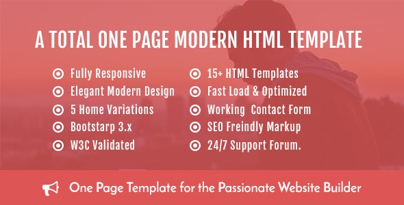 Onebusiness - One Page HTML Template - Business Corporate