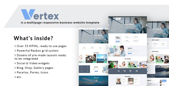 Vertex - Multipage Business Website Template - Business Corporate