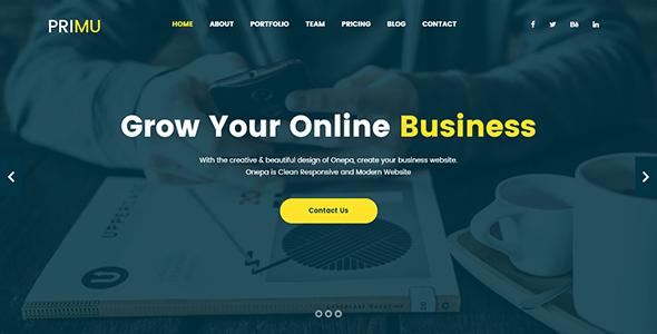 Primu   Ultimate Business Template - Business Corporate