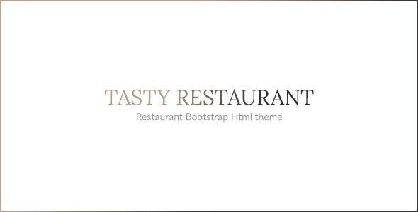 TASTY - RESTAURANT HTML TEMPLATE - Restaurants & Cafes Entertainment
