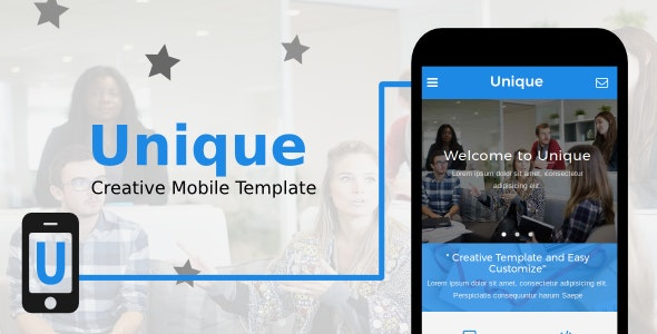 Unique - Creative Mobile Template - Mobile Site Templates