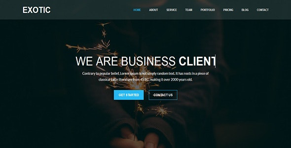 Exotic - One Page MultiPurpose Template - Corporate Site Templates