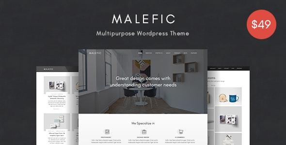 Malefic - Multipurpose One Page Responsive WordPress Theme - Portfolio Creative