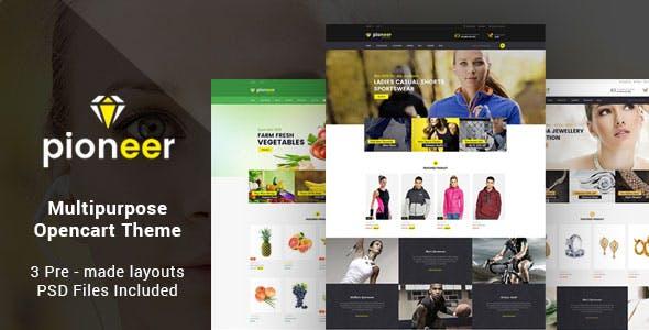 Pioneer - Responsive Multipurpose Opencart Theme   Sportswear Store   Jewellery Store   Food Store