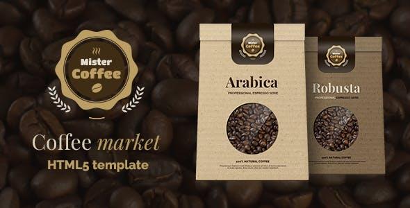 Mister Coffee - Caffeine Market Online Store HTML5 Template
