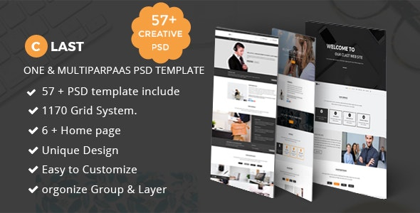 Clast | Onepage & Multipurpose PSD Termplate - Creative Photoshop