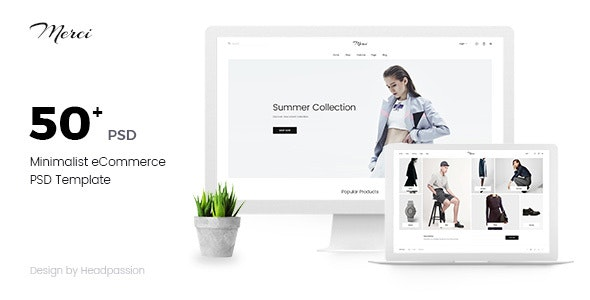 Merci | Minimalist eCommerce PSD Template - Shopping Retail