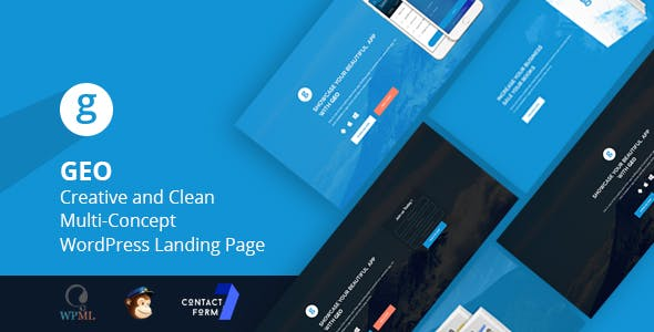 GEO - Creative and Clean Multi-Concept WordPress Landing Page Theme